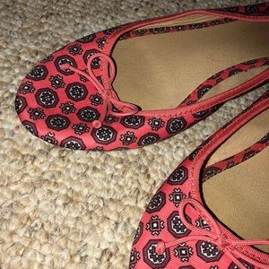 Old Navy Red patterned flats